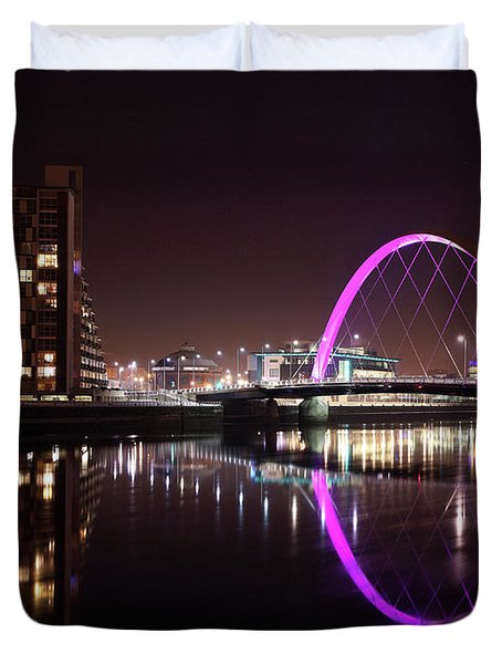 Clyde Arc Night Reflections Duvet Cover