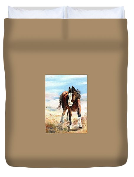 Clydesdale Foal Duvet Cover