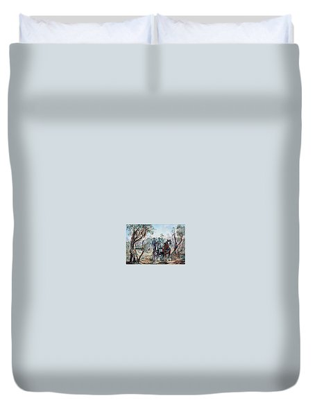 Clydesdales And Cart Duvet Cover