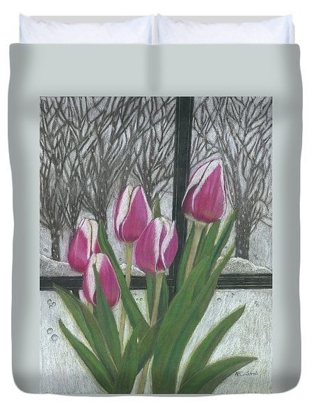 C'mon Spring Duvet Cover by Arlene Crafton