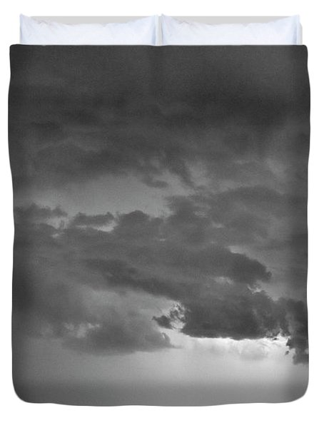 Co Cloud To Cloud Lightning Thunderstorm 27 Bw Duvet Cover by James BO  Insogna