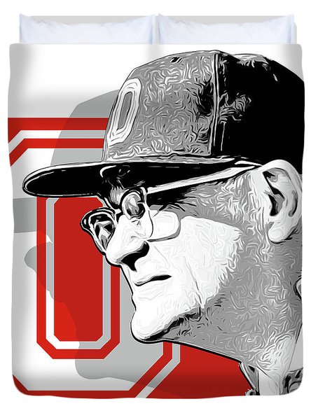 Coach Woody Hayes Duvet Cover by Greg Joens