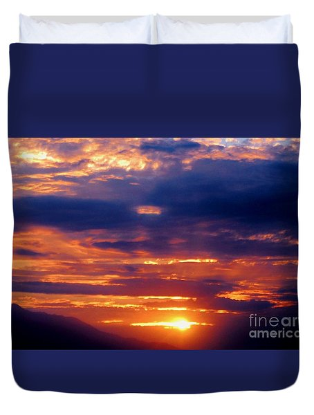 Duvet Cover featuring the photograph Coachella Sunset by Angela J Wright