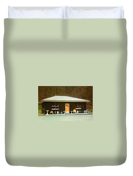 Coal House  Duvet Cover by Ruth  Housley