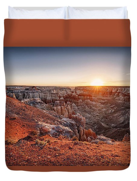 Coal Mine Canyon Sunrise Duvet Cover by David Cote