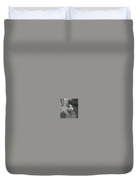 Duvet Cover featuring the photograph Coal Miner by Michael Krek