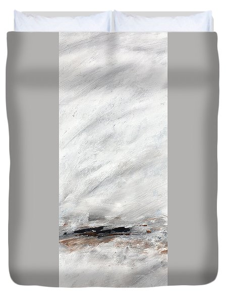 Coast #14 Ocean Landscape Original Fine Art Acrylic On Canvas Duvet Cover