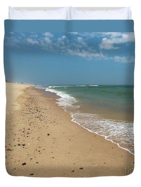 Coast Guard Beach Cape Cod Duvet Cover