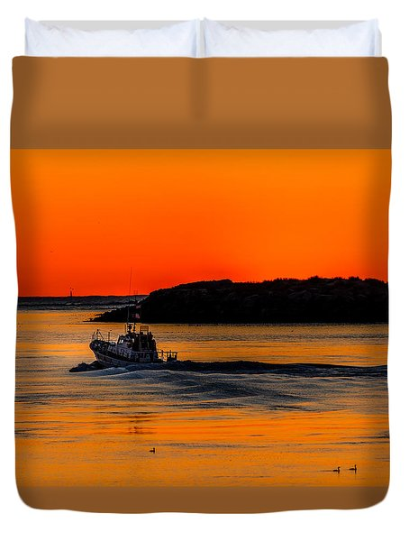 Duvet Cover featuring the photograph Coast Guard  by Jerry Cahill
