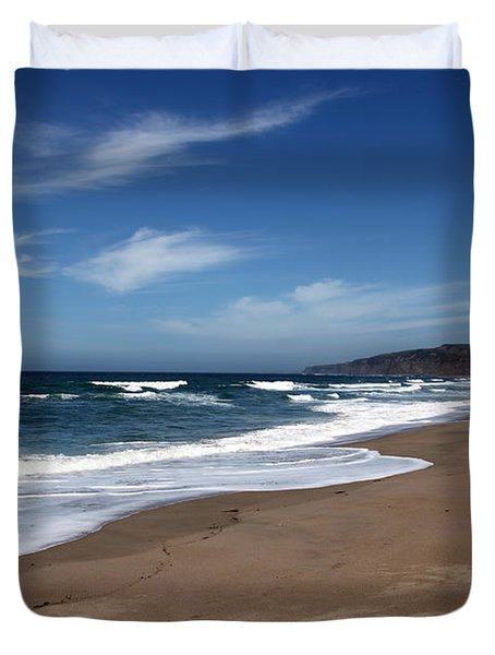 Coast Line Duvet Cover by Amanda Barcon