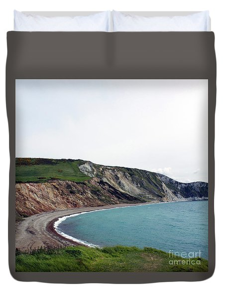 Duvet Cover featuring the photograph Coastal Arch by Sebastian Mathews Szewczyk