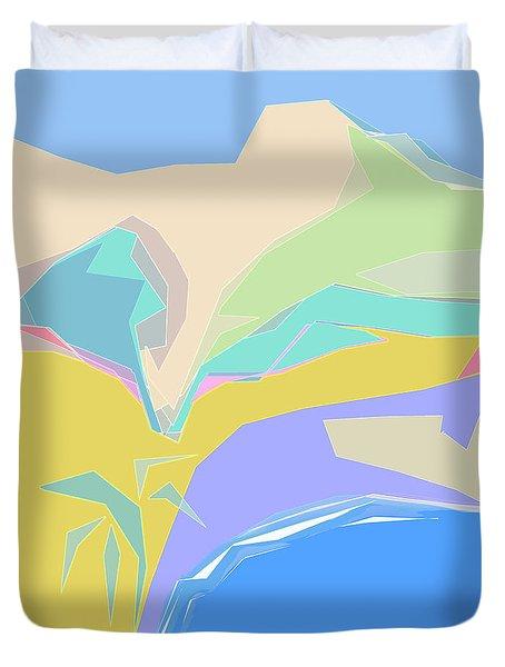 Coast Of Azure Duvet Cover