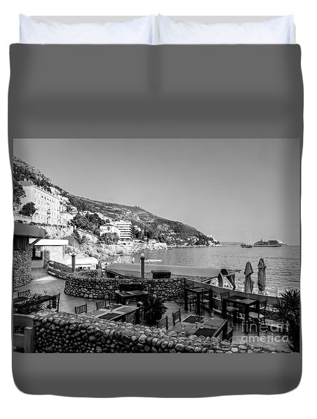 Duvet Cover featuring the photograph Coast Of Dubrovnik by Lance Sheridan-Peel