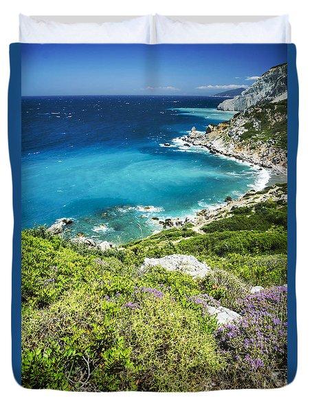 Coast Of Greece Duvet Cover