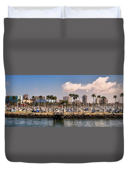Coast Of Long Beach #3 Duvet Cover