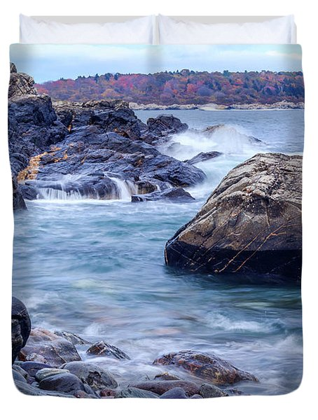 Coast Of Maine In Autumn Duvet Cover