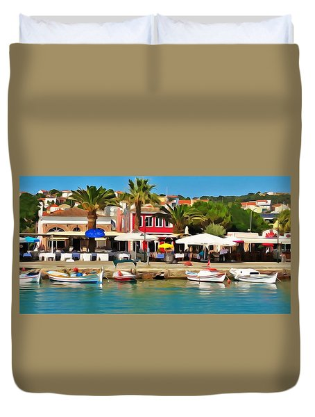 Coast Of Turkey Duvet Cover