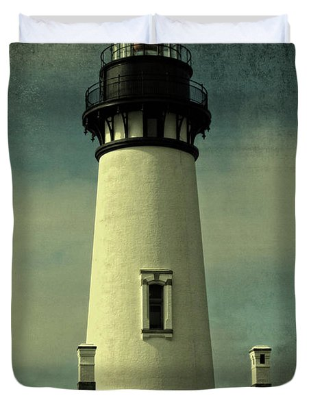Duvet Cover featuring the photograph Coastal Breeze At Yaquina Head by Thom Zehrfeld