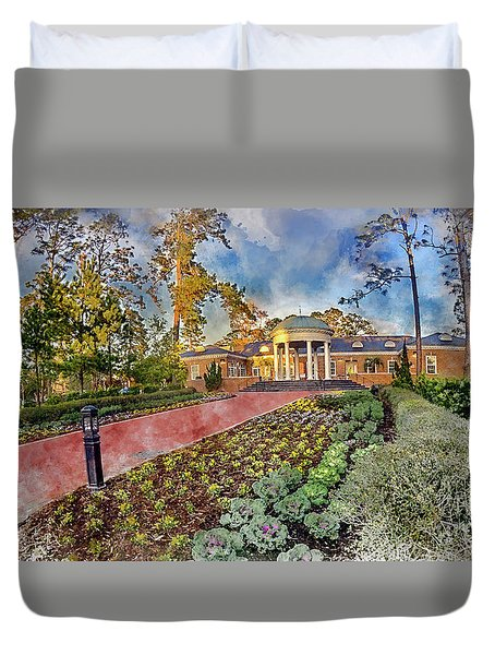 Coastal Carolina University Digital Watercolor Duvet Cover