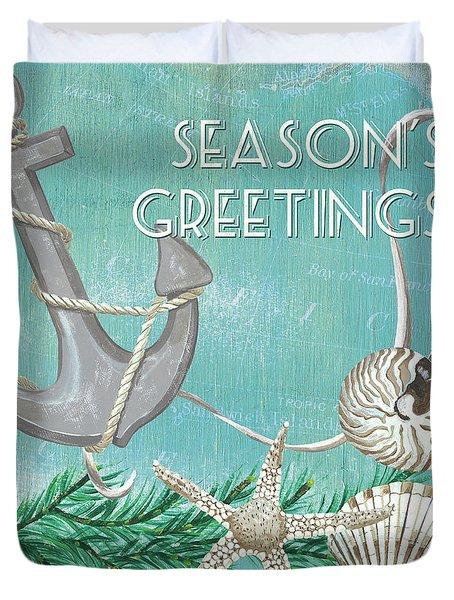 Coastal Christmas 4 Duvet Cover