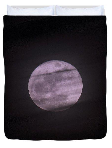 Coastal Christmas Moon Duvet Cover