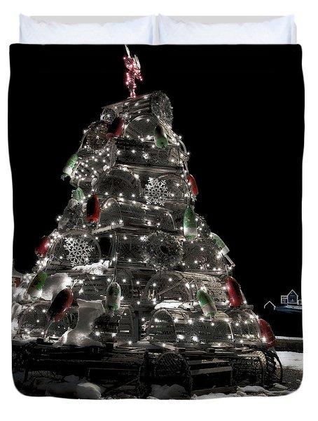 Coastal Christmas Duvet Cover