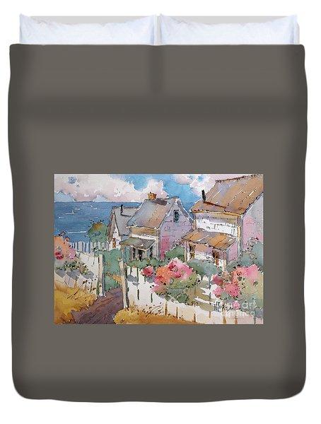 Coastal Cottages Duvet Cover
