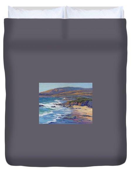 Coastal Cruising 8 / San Simeon Duvet Cover