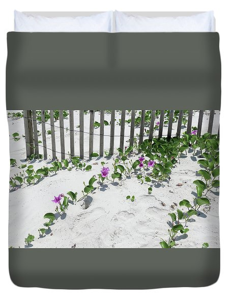 Coastal Flowers Duvet Cover