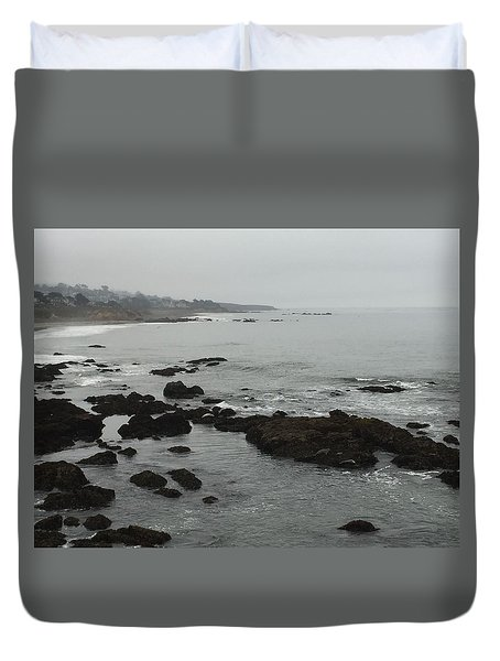 Coastal Fog Duvet Cover by Russell Keating