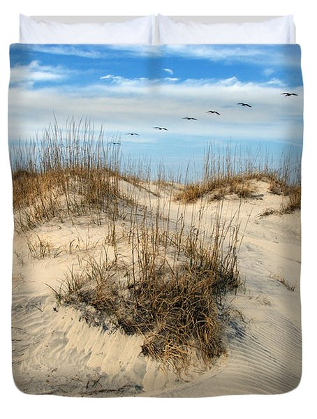 Coastal Formation Duvet Cover