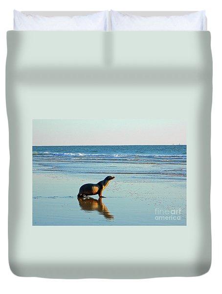 Coastal Friends Duvet Cover