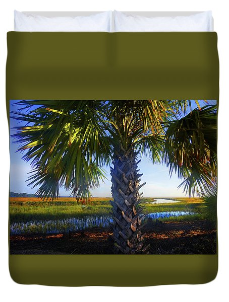 Coastal High Tide  Duvet Cover by Laura Ragland