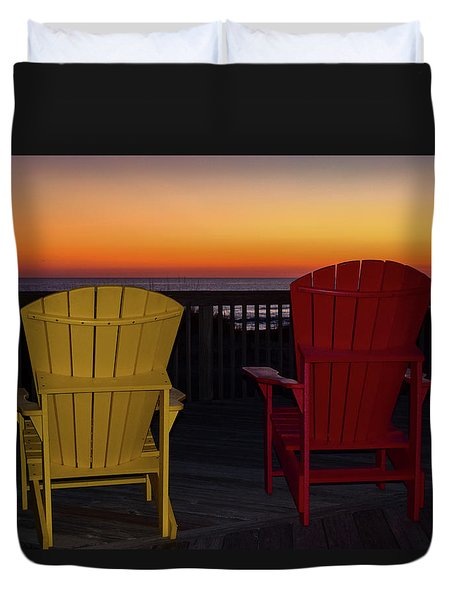 Coastal Mornings Duvet Cover