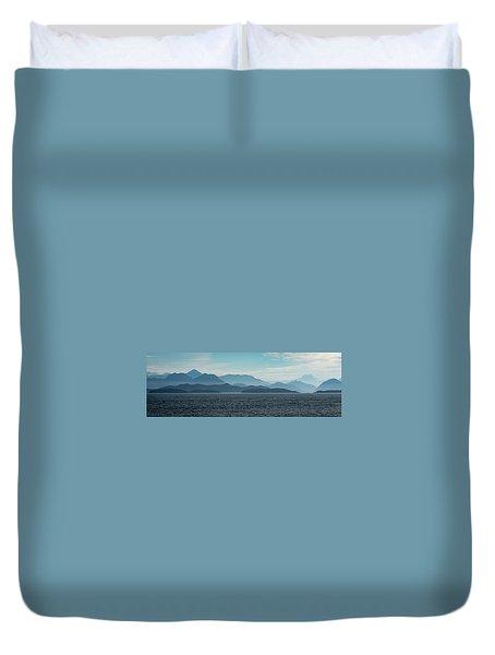 Coastal Mountains Duvet Cover