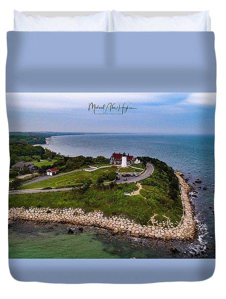 Coastal Nobska Point Lighthouse Duvet Cover