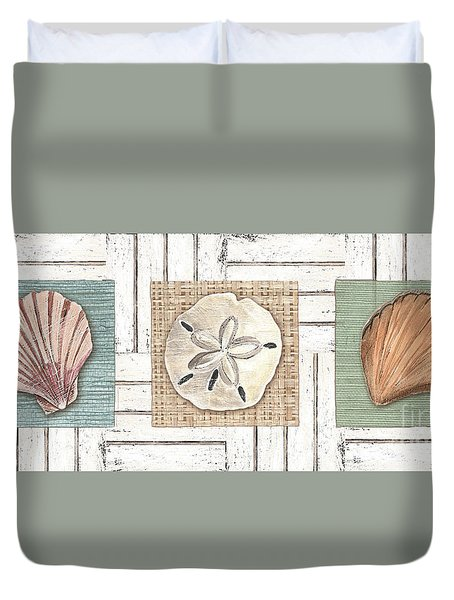 Coastal Shells 1 Duvet Cover