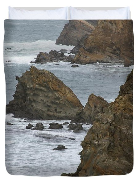 Coastal Storm Duvet Cover by Laddie Halupa