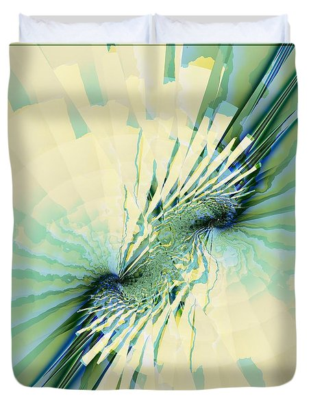 Duvet Cover featuring the digital art Coastal Summer by Michelle H