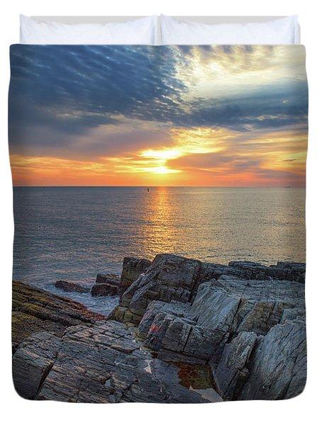 Coastal Sunrise On The Cliffs Duvet Cover
