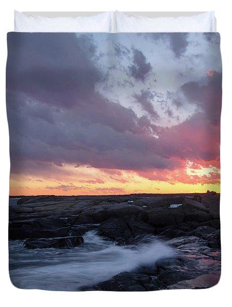 Coastal Sunset Cape Neddick - York Maine  -21056 Duvet Cover