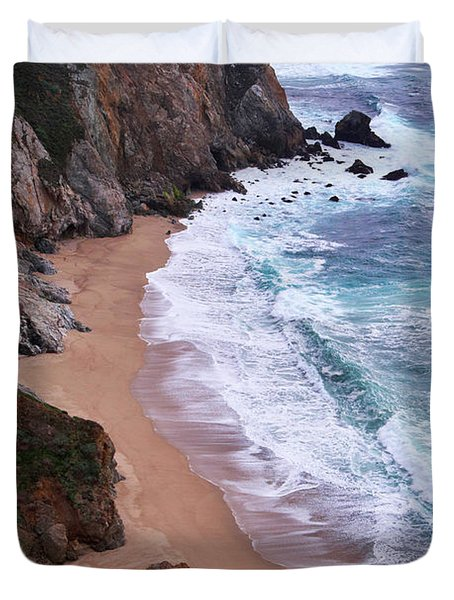 Coastal View At Big Sur Duvet Cover