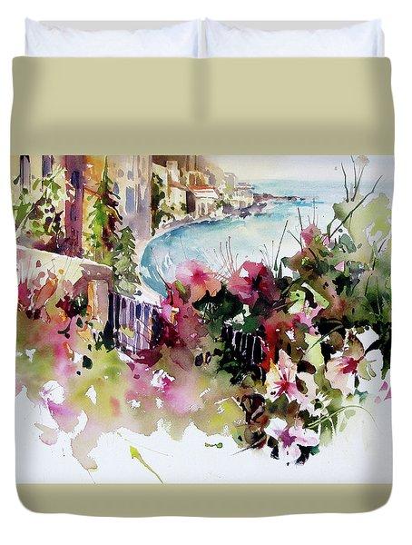 Coastal Vista Duvet Cover by Rae Andrews