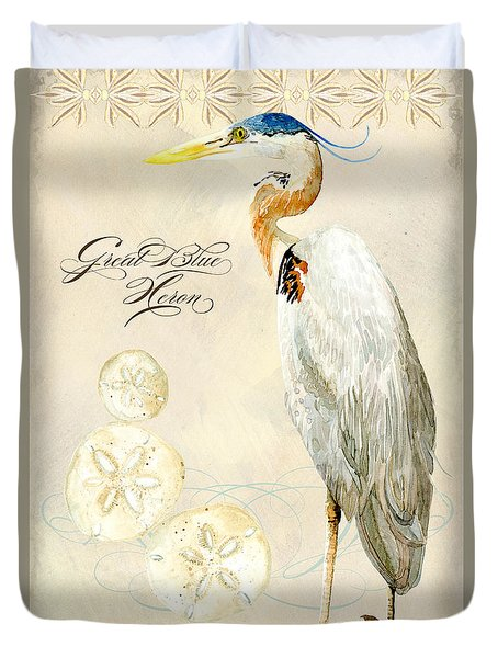 Coastal Waterways - Great Blue Heron Duvet Cover