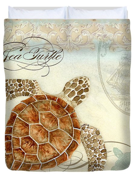 Coastal Waterways - Green Sea Turtle 2 Duvet Cover