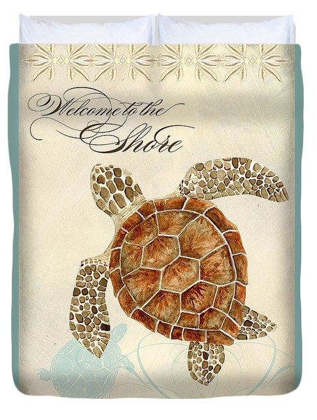 Coastal Waterways - Green Sea Turtle Duvet Cover