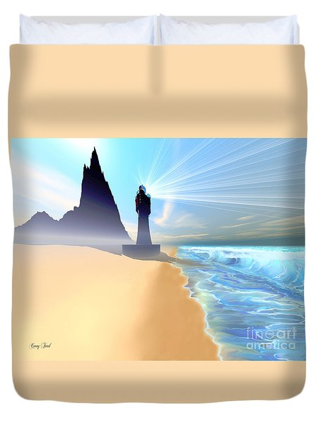 Coastline Duvet Cover by Corey Ford