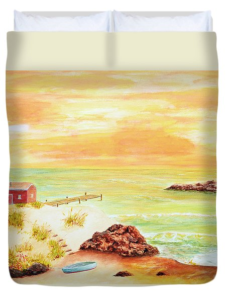 Coastline Lighthouse Duvet Cover