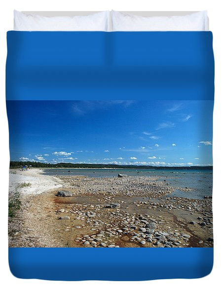 Coastline Of Lake Michigan  Near Petoskey State Park - Little Traverse Bay Duvet Cover