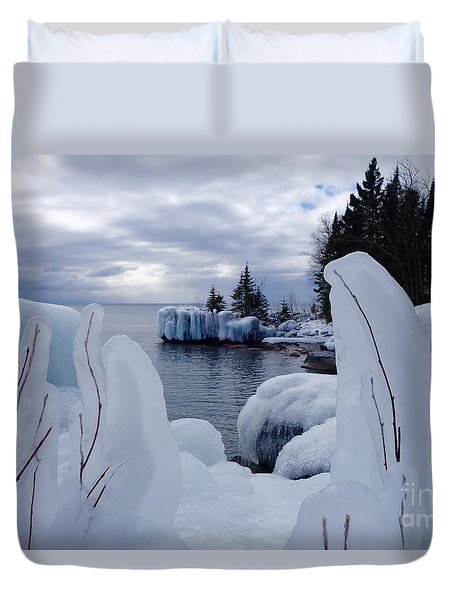 Coated With Ice Duvet Cover